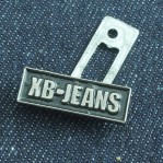 Jeans Metal Label Tags Planting Black