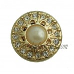 17mm-25mm Golden Metal Pearl Buttons Custom-made