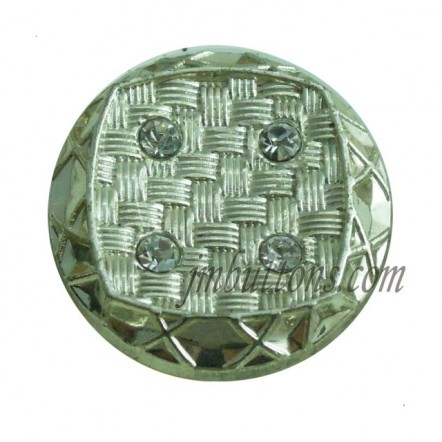 17-22mm Rhinestone Metal Silver Buttons Wholesale