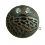 15-25mm Antique Copper Jeans Rhinestone Buttons