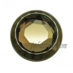 15-25mm Gold Yellow Glass Buttons Novelty Buttons