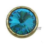 17-25mm Golden Zinc Alloy Rhinestone Buttons manufacturers