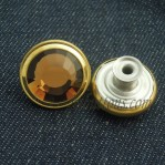 17-25mm Jeans Move Gold Yellow Crystal Buttons