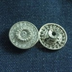 17-25mm Nickle Rhinestone Znic Alloy Move Buttons