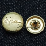 Custom Metal Snap Button Jewelry 15mm-22mm Glod