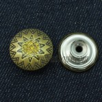 Move Metal Buttons 15-22mm Antique Bronze Vintage