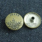 Snap Button 15-22mm Antique Bronze Copper manufacturers