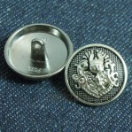 15-25mm Gun Zinc Alloy Shank Suit Buttons Wholesale