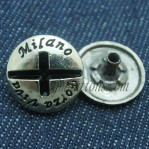 Custom Metal Snap Buttons 15-25mm Gun Wholesale