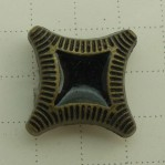 Square Metal Antique Bronze Buttons Rivets Clothing