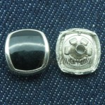 Zinc Alloy Snap Buttons 17-22mm Black Wholesale
