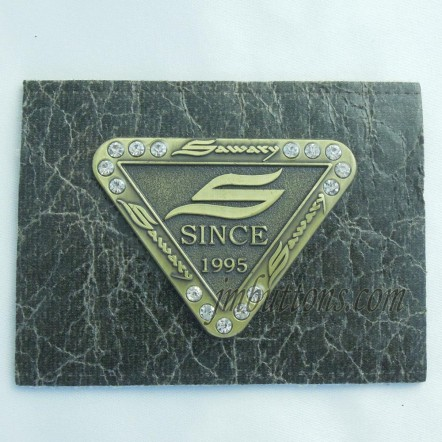 Cheap Branded Metal Leather Jeans Labels Manufacturers In China