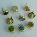 Crystal Copper Prong Claw Rivet With Rhinestone Strass Wholesale