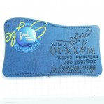 Jeans Metal Leather Tags Manufacturers In China, Blue Color