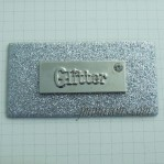 White Rhinestone Leather Labels With Nickle Zinc Alloy Plate Wholesale