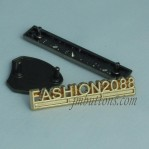 Brand Name Denim Metallic Label Tags For Jeans Manufacturer