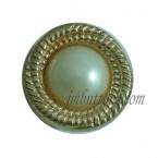 Custom Made Metal Gold Pear Buttons For Clothing In China