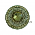 Move Zinc Alloy Gold Powder Buttons With Rhinestone For Jeans