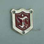 Sew On Metal Logo Badge Bland Label Manufacturer In China