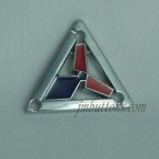 Zinc Alloy Sew On Logo Pin Labels Triangle Tags Manufacturer