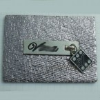 Brand Logo Alloy Metal leather Label Tags For Jeans Bags Supplier