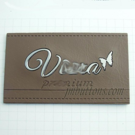 Custom Brand Logo Letter Embossed Hardware Leather Denim Tag Labels