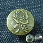 Custom Unmove Brass Jeans Vintage Buttons
