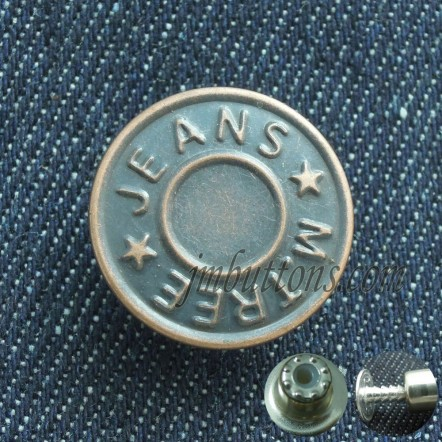 Wholesale Unmove Classical Tack Buttons For Jeans
