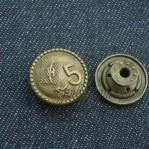 Custom Vintage Metal Buttons Fly Jeans China Supplier