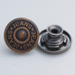 Wholesale Tack Jeans Button Metal Antique Copper
