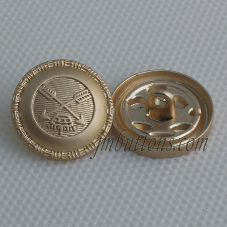 Customized Metallic Shank Suit Coat Buttons With Hole