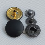 Metal Black Snap Fasteners Buttons Large Stock