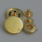 Wholesale Brass Snap Button Four Buckle Gold 9.5-20mm