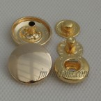 Wholesale Zinc Alloy Golden Button Fastener Snaps