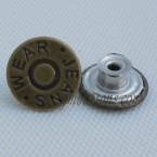 17mm Bronze Metal Jeans Tack Buttons Wholesale