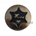Black Painting Star Tack Jean Buttons 17mm