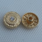 Custom Metal Jean Button Rivet With Rhinestone