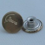 Gold Stainless Steel Move Tack Denim Button