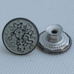 Gun Metal Cowboy Buttons With Tack 17mm