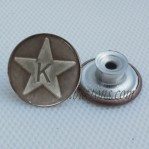 Metal Jeans Buttons Wholesale Star And Letter