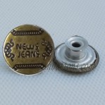 New Jeans Tack Move Button Wholesale Bronze