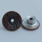 Stainless Steel Wear Denim Button 17-20MM