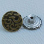 Steel Jeans Shank Buttons Antique Bronze Stainless