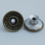 Steel Tack Jean Buttons Antique Bronze Stainless