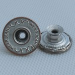 Steel Wear Jean Tack Buttons 17mm Copper