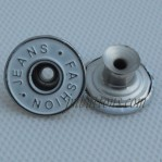 White 17MM Stainless Steel Tack Buttons For Jeans