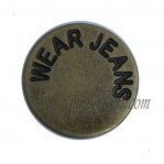 Wholesale Vintage Bronze Wear Jeans Tack Buttons