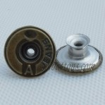 Wholesale Vintage Jeans Metal Buttons With Tack