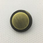 Custom decorative four parts brass metal ring cap pearl prong snap button for baby garments