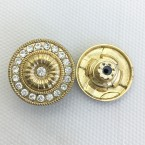factory direct discount zinc alloy fashionable  hot sell rhinestone stone brilliant metal jeans button accessory